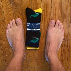 George Fashion Crew Dino/Pizza socks